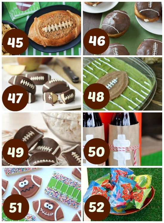 Great Super Bowl themed foods.