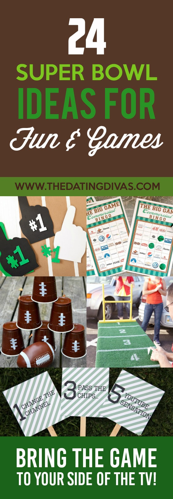 Fun and games for your Super Bowl party.