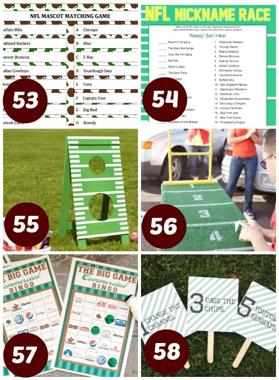53. NFL Mascot Matching (Moms & Munchkins) – A fun printable ...