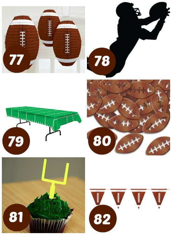 Super Bowl party supply links.