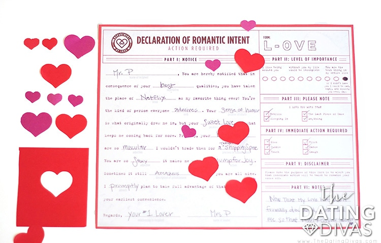 An official declaration of your love!