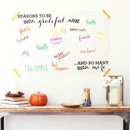 Giant Gratitude Thanksgiving Sign