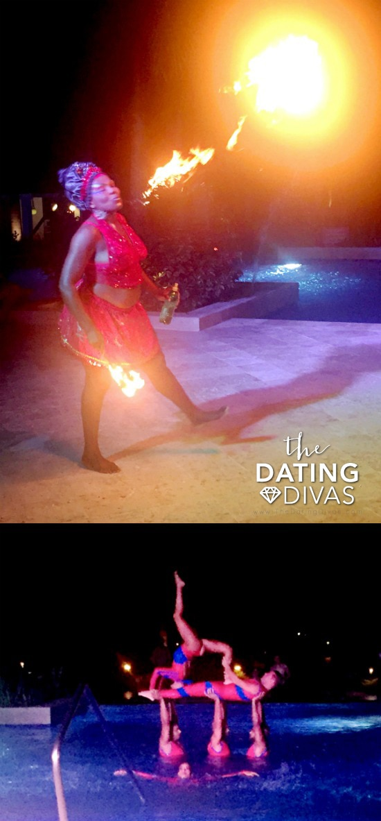 Fire Dancing and Aquatics Show in Jamaica