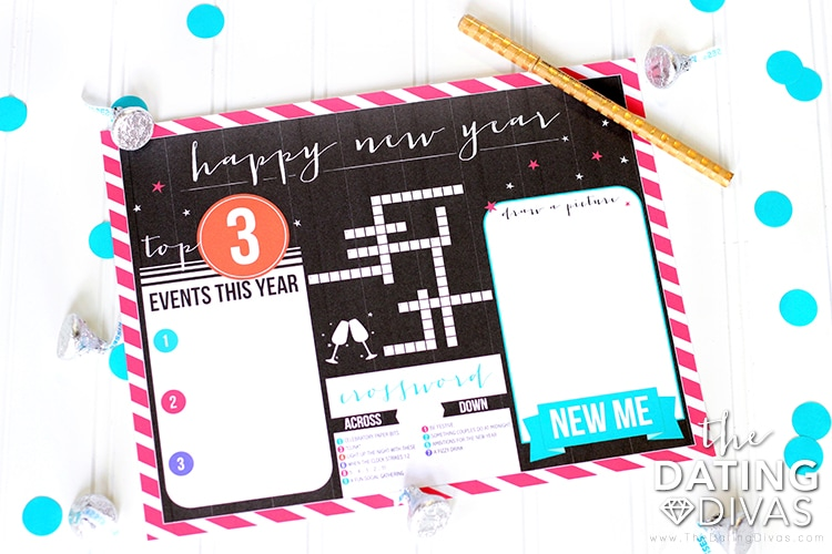 New Year's Eve Countdown Dinner Place Mat