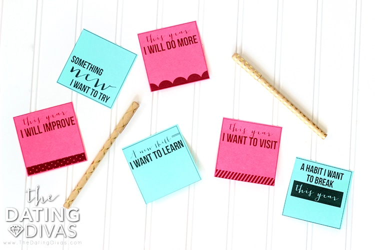 New Year's Eve Sticky Notes