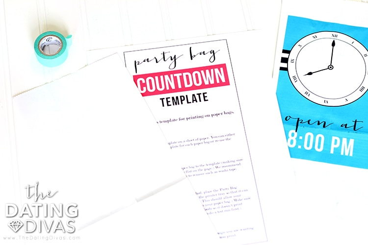 New Year's Eve Countdown Bag Template