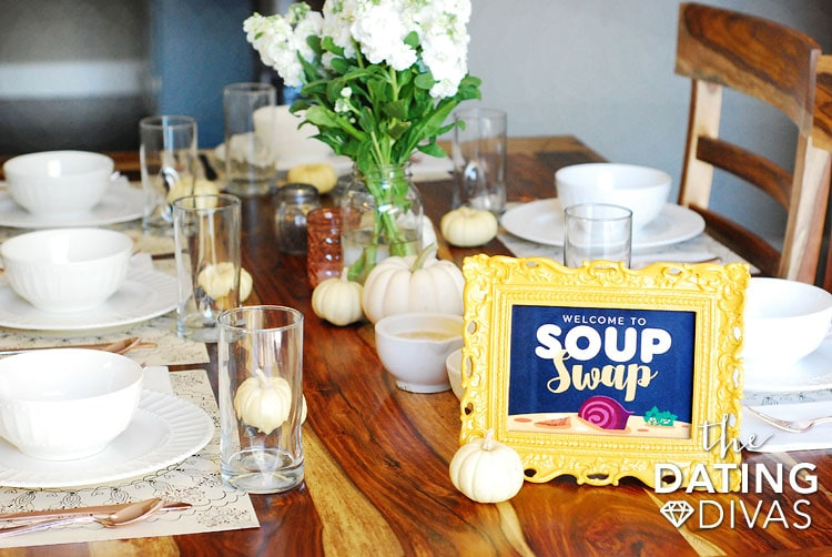 Soup Swap Decor