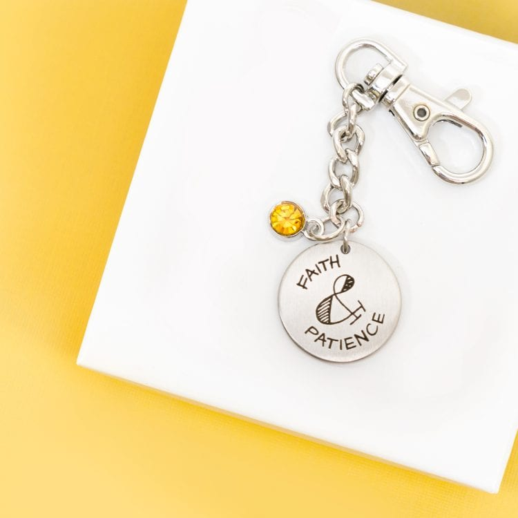 Stamp the Moment Custom Key Ring Gift