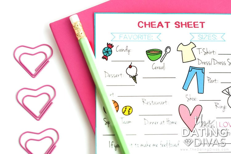 Complete a cheat sheet on your spouse to always have handy!