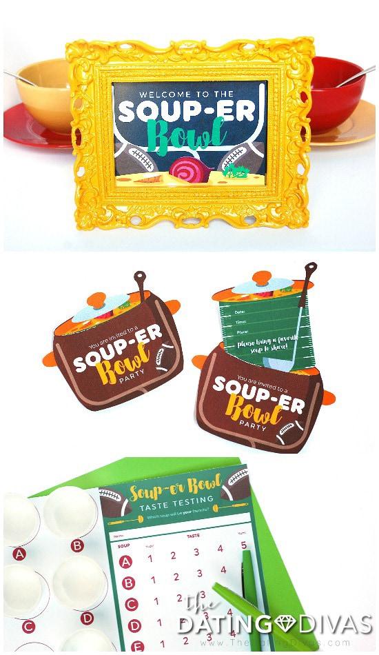 Super Bowl Soup Swap Printables