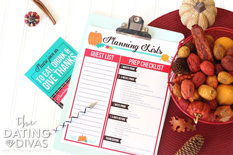 Thanksgiving Dinner Checklists