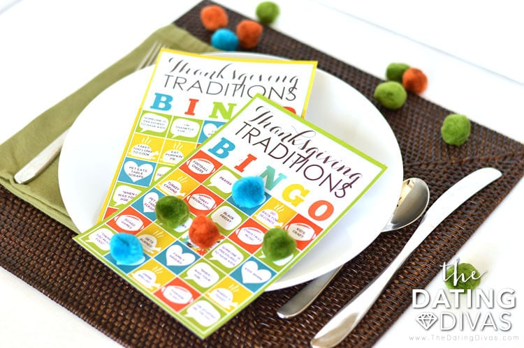 Thanksgiving Traditions BINGO Game Cards