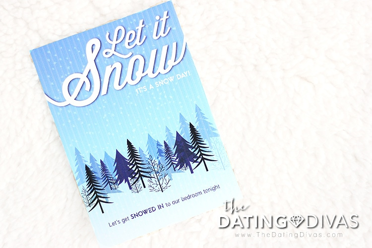 "Sexy winter idea: Let's get ""snowed-in"" to the bedroom tonight!"