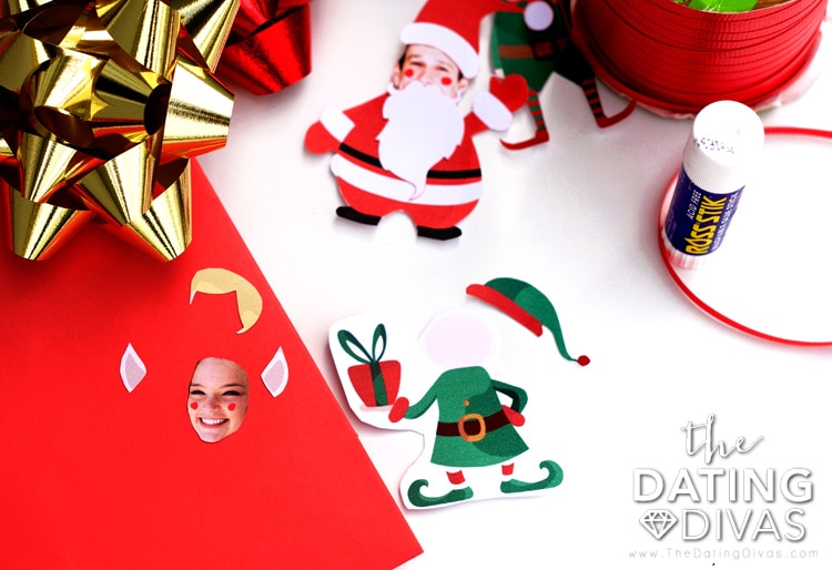 How to assemble elf ornament printables.