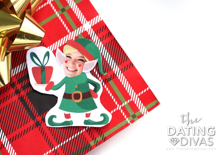 Personalized elf ornament.