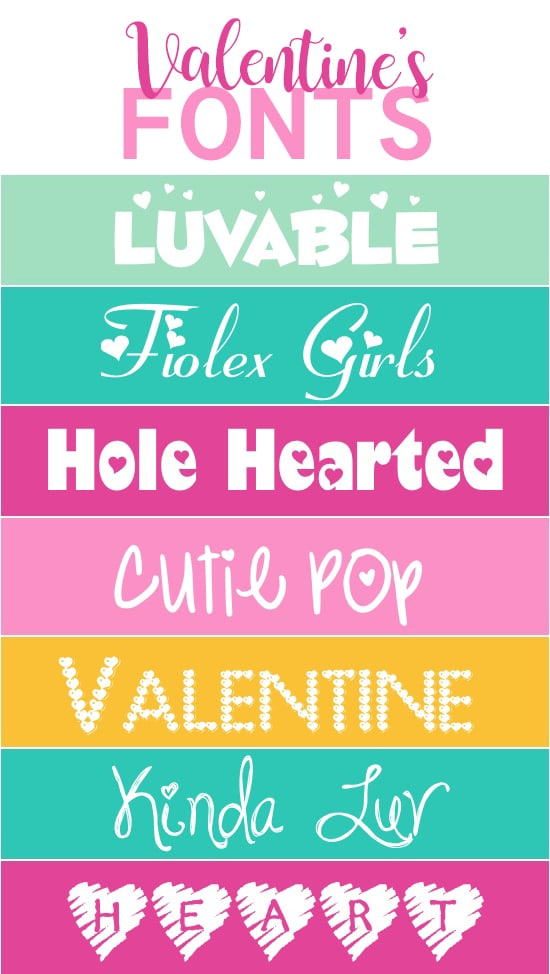 Romantic Fonts for Valentine's Day