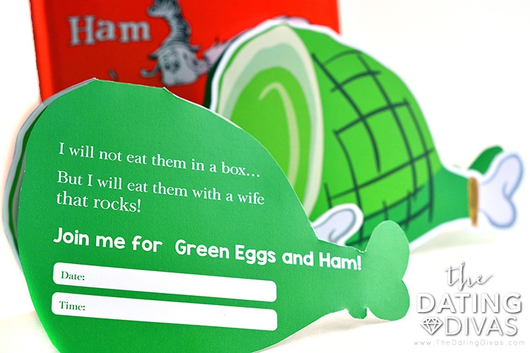 Printable invite for a Green Egg and Ham date.