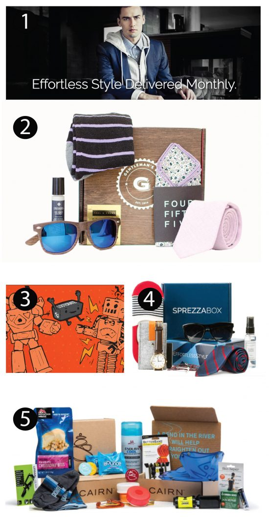 Subscription Gift Ideas for Men #MenBoxes
