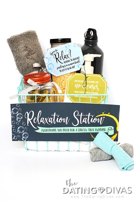 Relaxation Date Night Basket