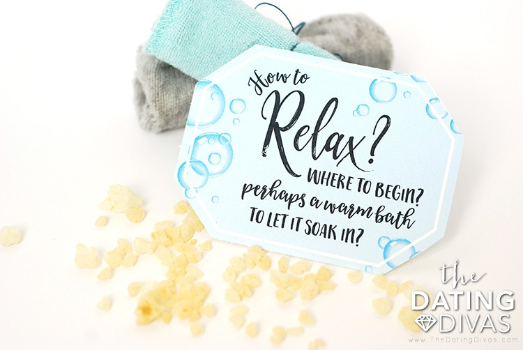 Relaxing Gift Basket Tags