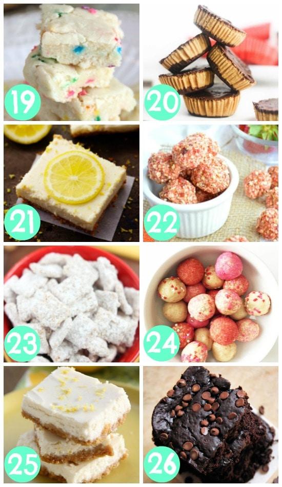 Skinny Dessert Bites and Bars