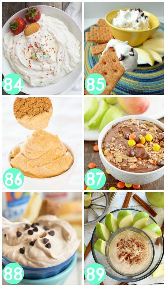 Skinny Dessert Dips