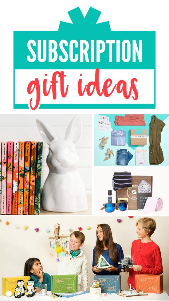 Subscription Gift Box Ideas for Her #Subscription #GiftIdeas