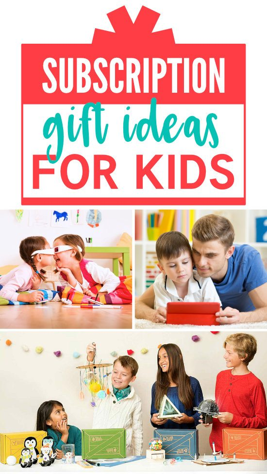Subscription Gift Box Ideas for Kids #Subscription #Gift