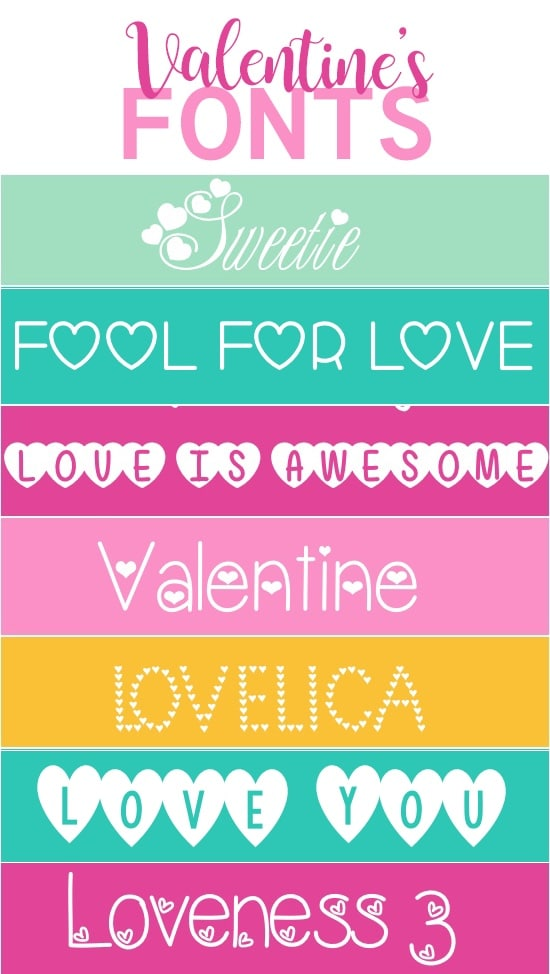 Our Favorite Free Romantic Fonts for Valentine's Day