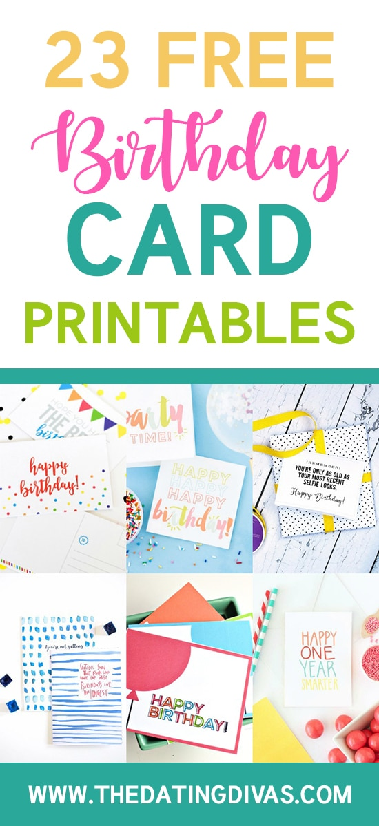 Cards Free Birthday Printables