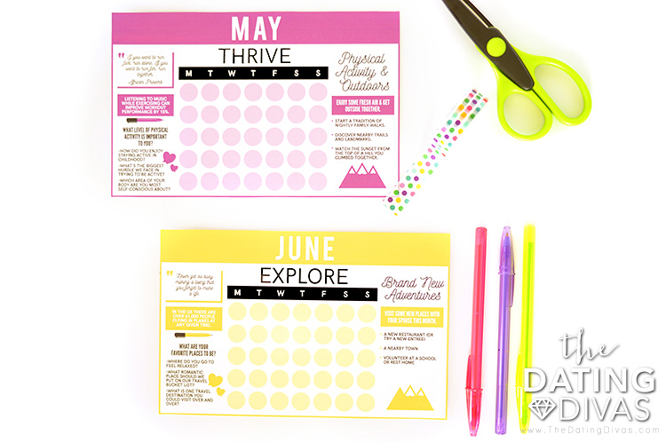 Cute, Quick & Easy DIY Tear-Off Calendar Prints