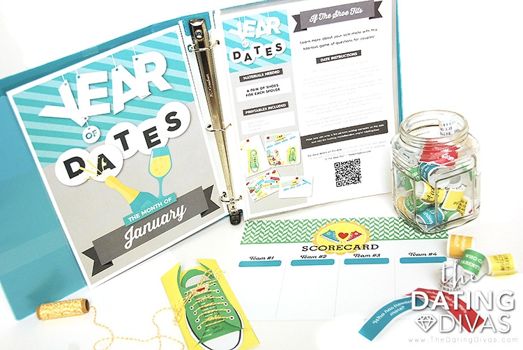 Date Printables in The Year of Dates Binder
