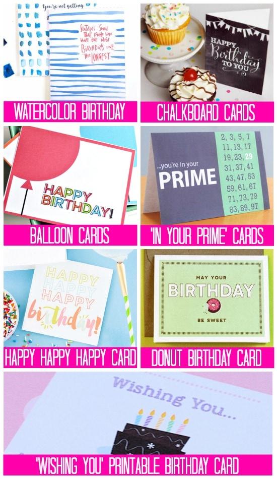 Fun and Free Printable Birthday Cards