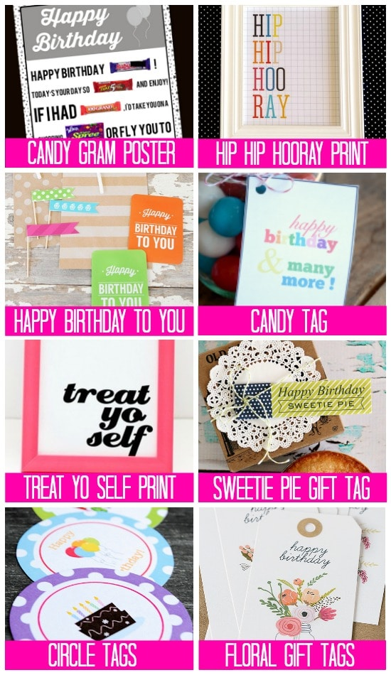 Free Gift & Treat Tag Birthday Printables