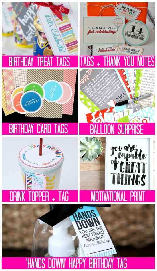 Printables Free Birthday Gift & Treat Tag