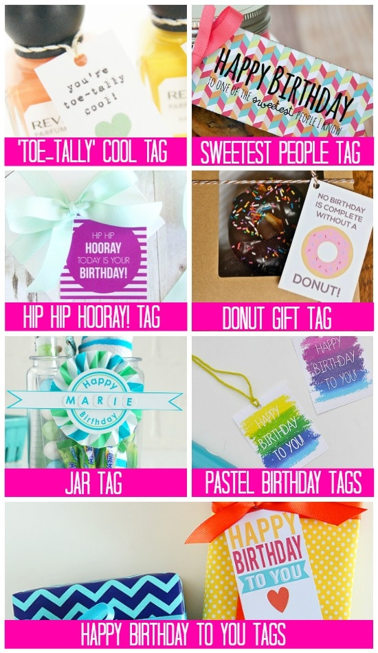 Birthday Printables Gift & Treat Tags