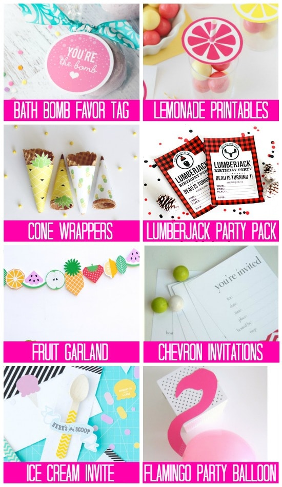 More Party Supply Birthday Printables