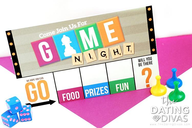 Game Night Date Night Invite