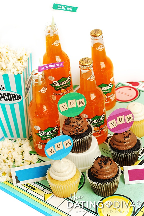 Game Night Treats Toppers