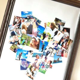 Framed Heart-Shaped Photo Collage