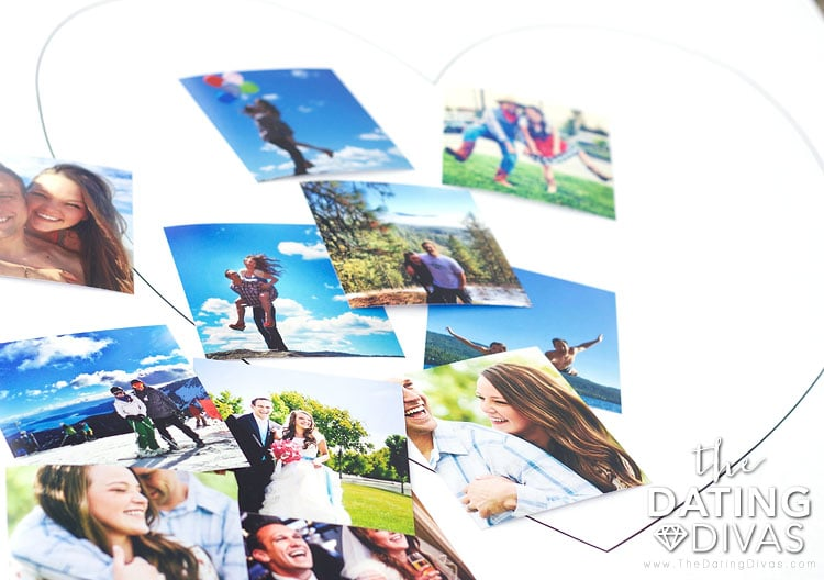 Arranging Photos for a Heart-Shaped Picture Collage