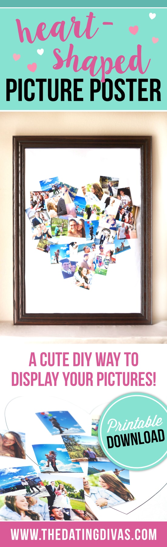 Heart-Shaped Picture Poster - The Dating Divas