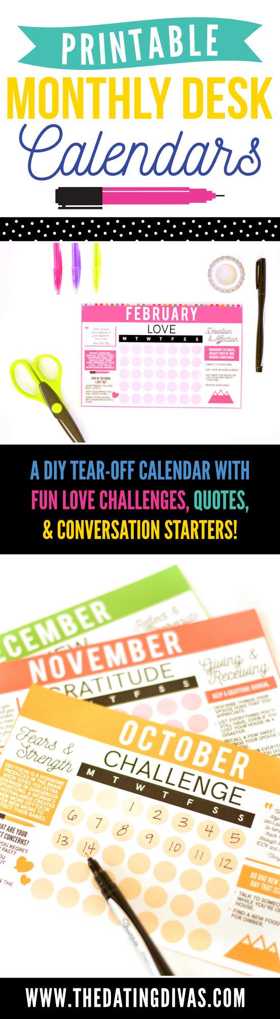 Printable Monthly Desk Calendar #freecalendar #printablecalendar
