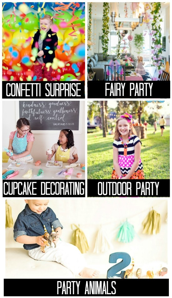 Birthday Photo Ideas for a Party in Action