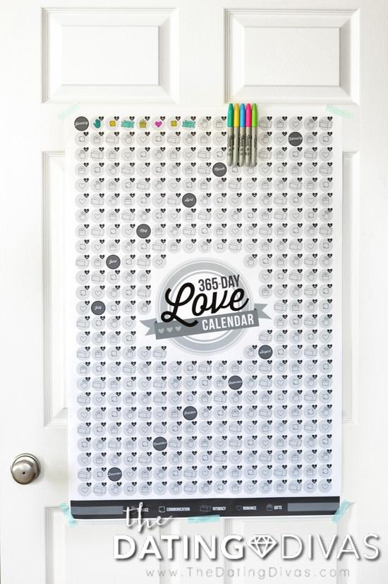 Giant Love Calendar Poster