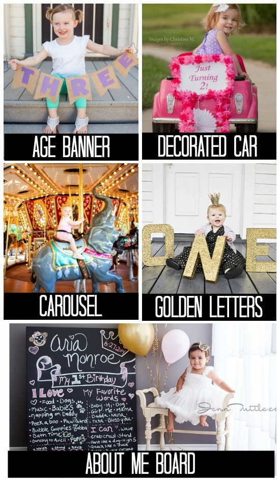 Birthday Photo Ideas for Different Props and Poses