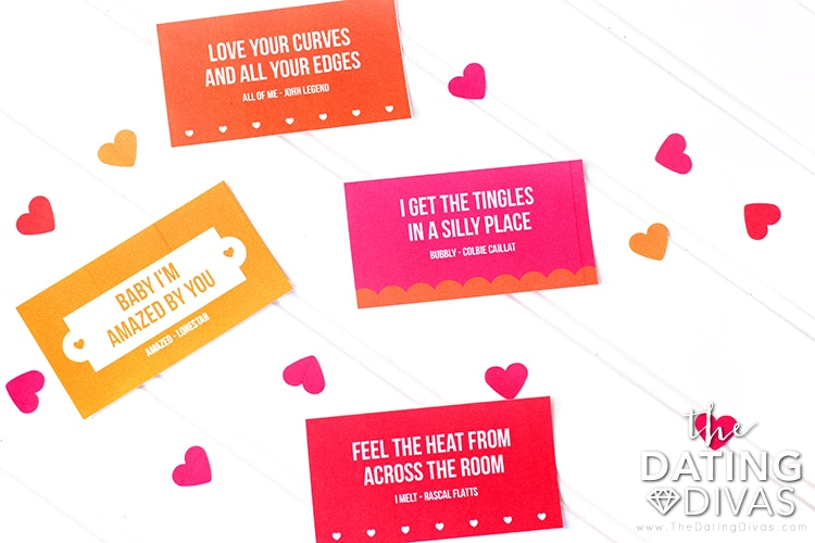 Valentine's Bedroom Party Lyrics Game