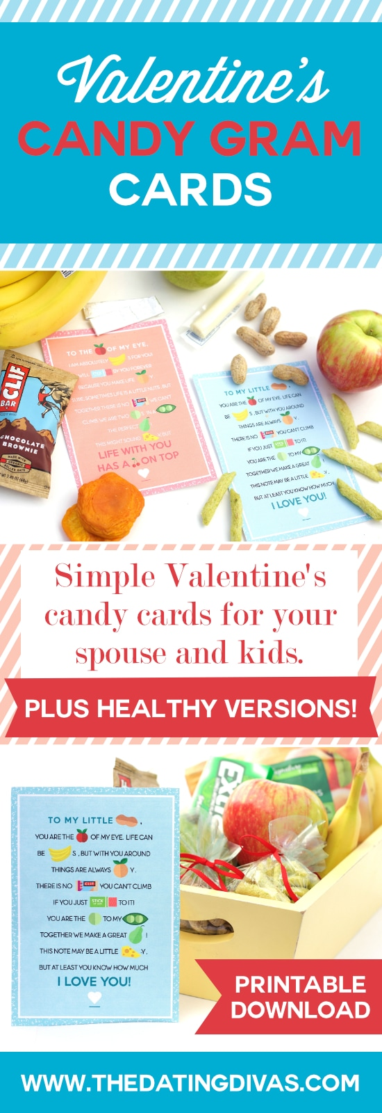 Simple Valentine's Candy and Healthy Cards