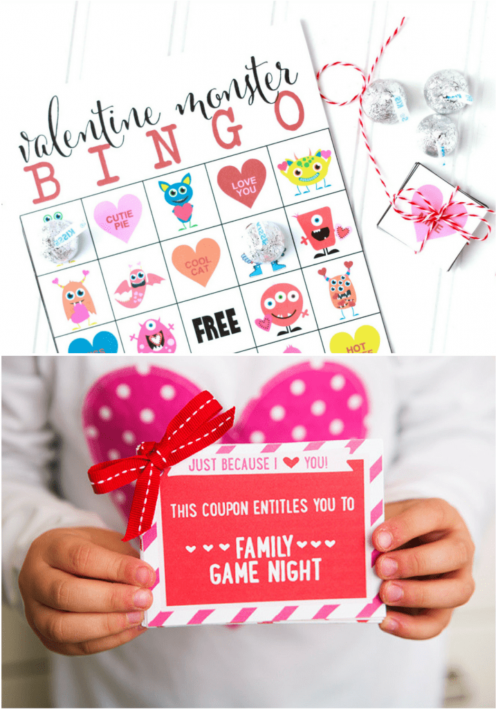 Valentine's Day Bingo and Coupon Book for Kids