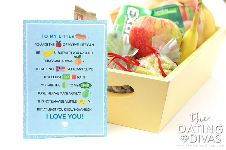 Card with a Basket of Healthy Treats